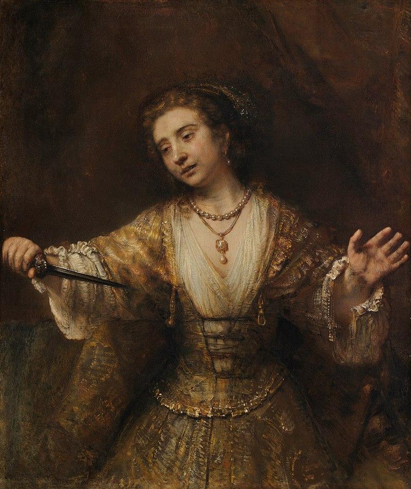 Lang leve Rembrandt, Lucretia by Rembrandt
