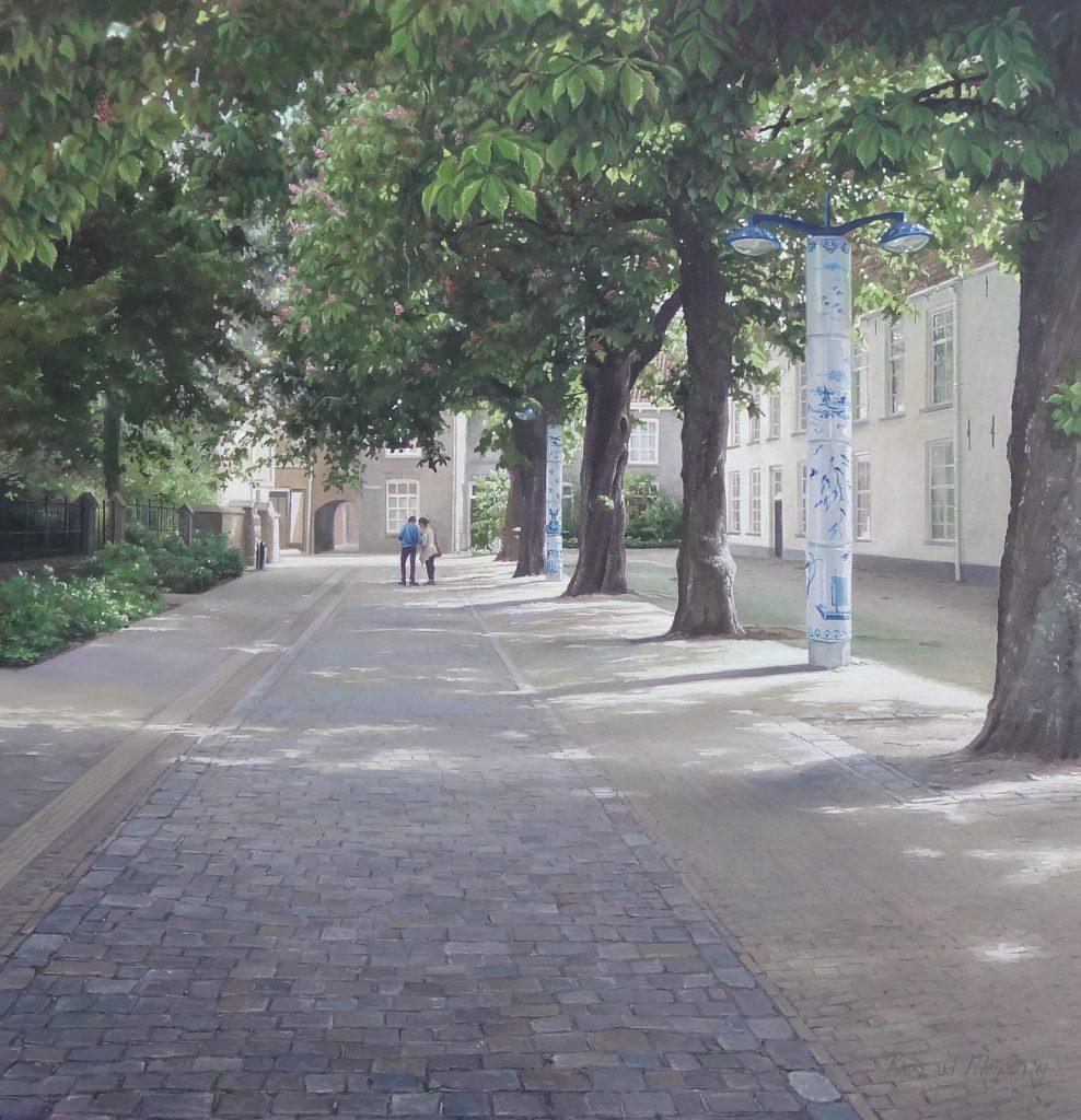 Delfts blauw - stadsgezichten van Delft