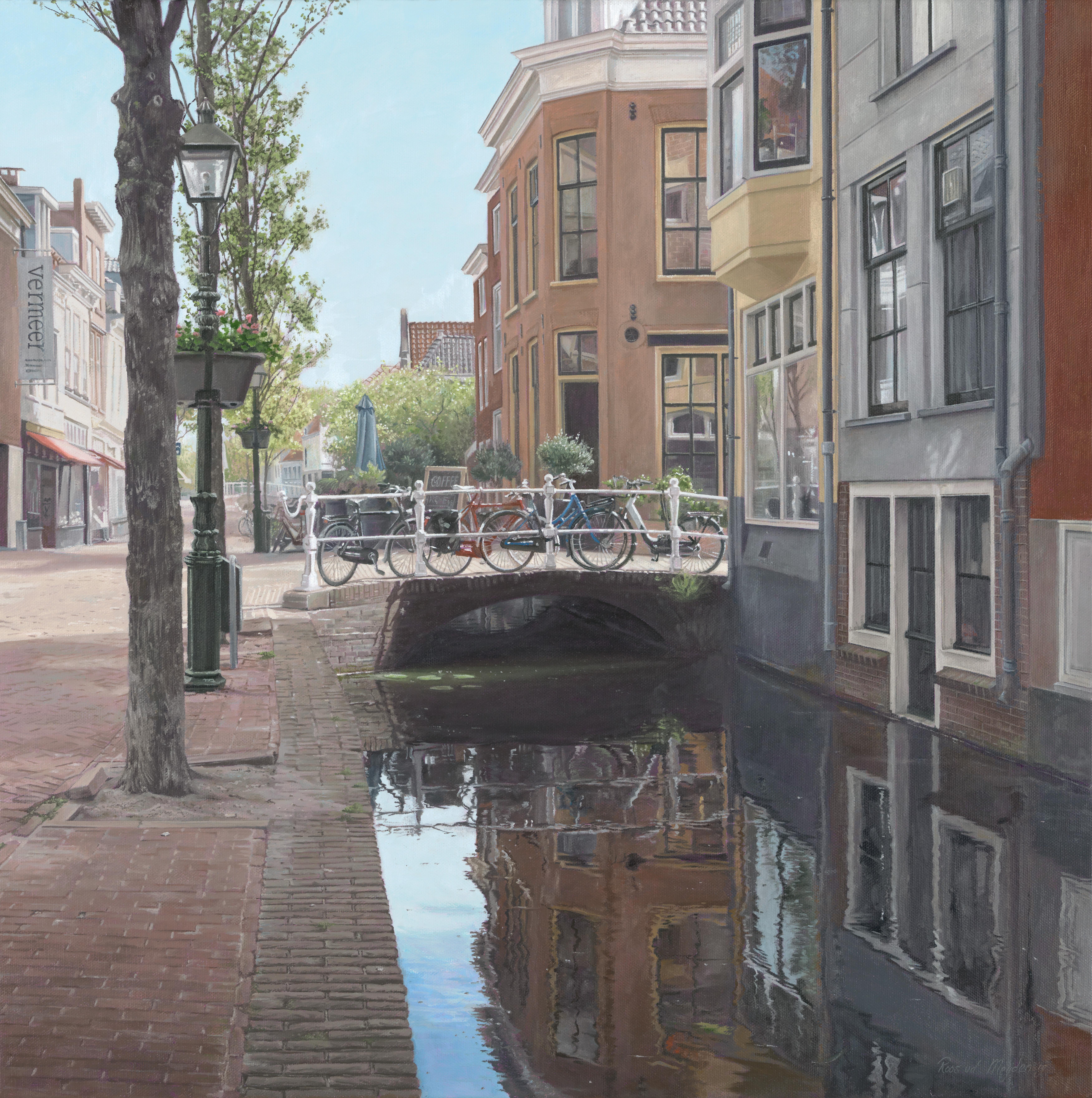 Straatje van Vermeer - stadsgezicht van Delft