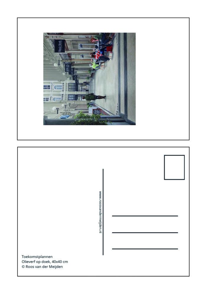Ansichtkaart Studiedag, Roos van der Meijden