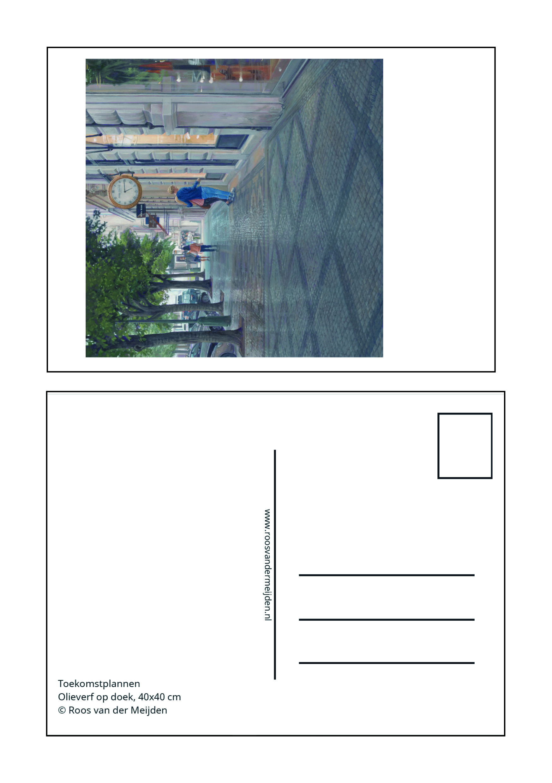Ansichtkaart Toekomstplannen, Roos van der Meijden