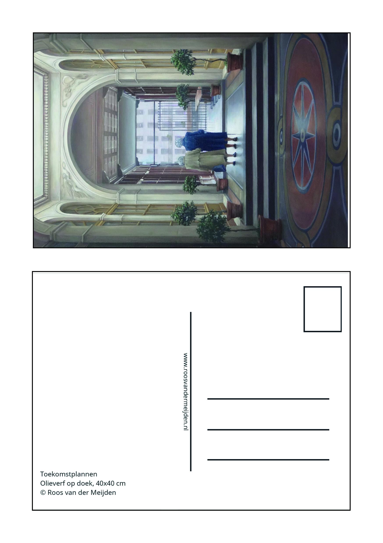 ansichtkaart De Tweeling, Roos van der Meijden