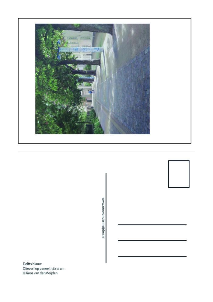 Ansichtkaart Delfts blauw, Roos van der Meijden