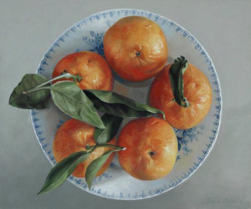 schilderij mandarijnen© Roos van der Meijden