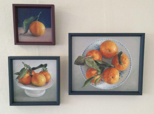 schilderij mandarijnen ingelijst© Roos van der Meijden